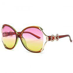 Two Tone Wide Tiny Bowkont Embellished Sunglasses