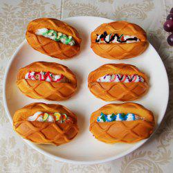 1 Pcs Squishy Toy PU Simulation Butter Bread Model -
