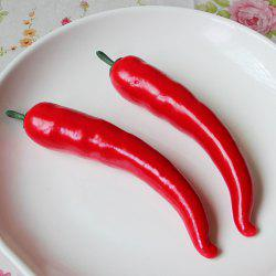 1 Pcs Foam Vegetable Decorative Simulation Cayenne Pepper - Rouge