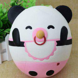 Slow Rising Squishy Toy Nose Ring Panda Simulation Animal - BLACK WHITE