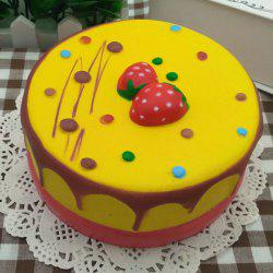 Slow Rising Squishy Toy Simulation Strawberry Mousse Cake - YELLOW