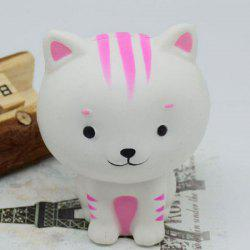 PU Slow Rising Squishy Animal Toy Simulation Cat - WHITE