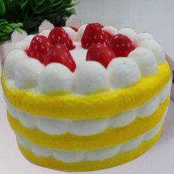 Slow Rising Simulation Strawberry Cream Cake Squishy Toy - Jaune