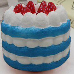 Slow Rising Simulation Strawberry Cream Cake Squishy Toy - BLUE