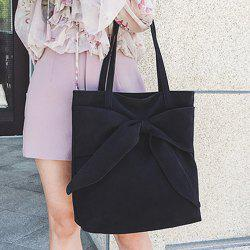 Faux Suede Bow Shoulder Bag