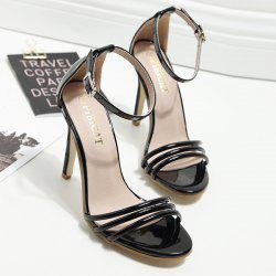 Stiletto Heel Ankle Strap Sandals