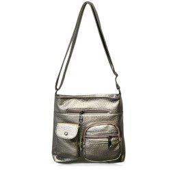 Front Pockets PU Leather Crossbody Bag