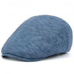 Nostalgic Lines Retro Newsboy Hat - BLUE