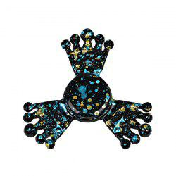 Crown Paint Splatter Fiddle Toy Metal Fidget Spinner