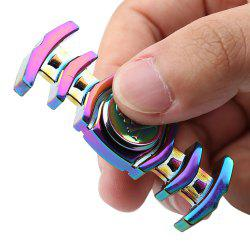 Dual-bar Skull Colorful Fidget Metal Spinner Anti-stress Toy
