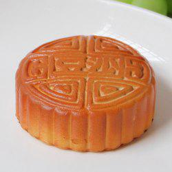 Anti Stress PU Simulation Mooncake Squishy Toy - DARK AUBURN