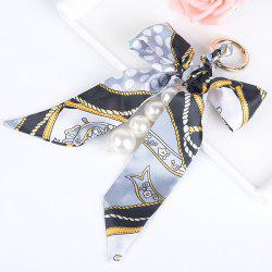 Fake Pearls Bowknot Keychain