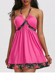 Backless Halter Mini Beach Dress - TUTTI FRUTTI M