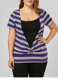 Striped Plus Size T-Shirt