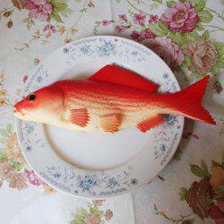 PU Simulation Carp Fish Model Squishy Toy - Rouge