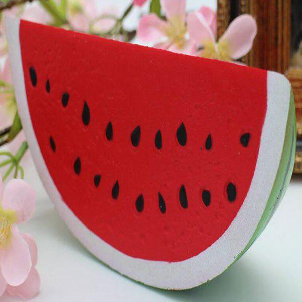 Watermelon Pastoral Slow Rising Squishy ToyHOME<br><br>Color: RED; Products Type: Squishy Toy; Materials: PU; Features: Slow Rising; Shape/Pattern: Fruit; Weight: 0.0972kg; Package Contents: 1 x Squishy Toy;