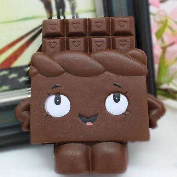 Simulation Toy Slow Rising Squishy Chocolate PersonHOME<br><br>Color: CHOCOLATE; Products Type: Squishy Toy; Theme: Cartoon; Materials: PU; Features: Slow Rising; Shape/Pattern: Cartoon; Weight: 0.0936kg; Package Contents: 1 x Squishy Toy;