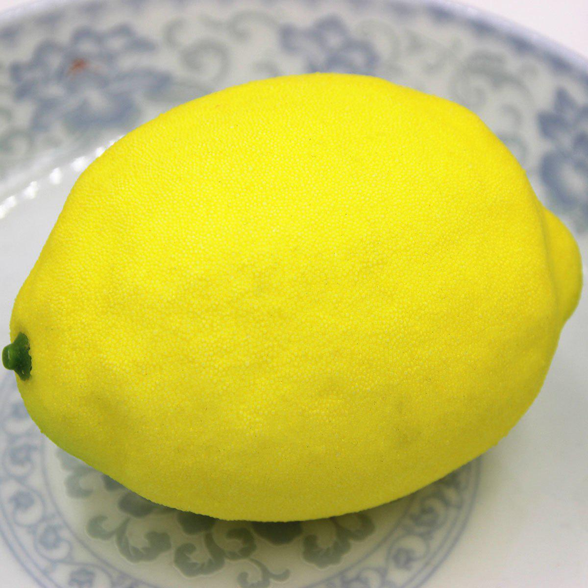 Stress Relief Simulated Lemon Shape Squishy ToyHOME<br><br>Color: YELLOW; Products Type: Squishy Toy; Theme: Funny; Materials: Foam; Features: Creative Toy; Shape/Pattern: Fruit;
