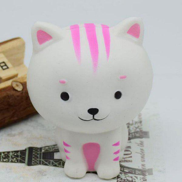 PU Slow Rising Squishy Animal Toy Simulation CatHOME<br><br>Color: WHITE; Products Type: Squishy Toy; Theme: Cartoon; Materials: PU; Features: Slow Rising; Shape/Pattern: Animal; Weight: 0.0663kg; Package Contents: 1 x Squishy Toy;