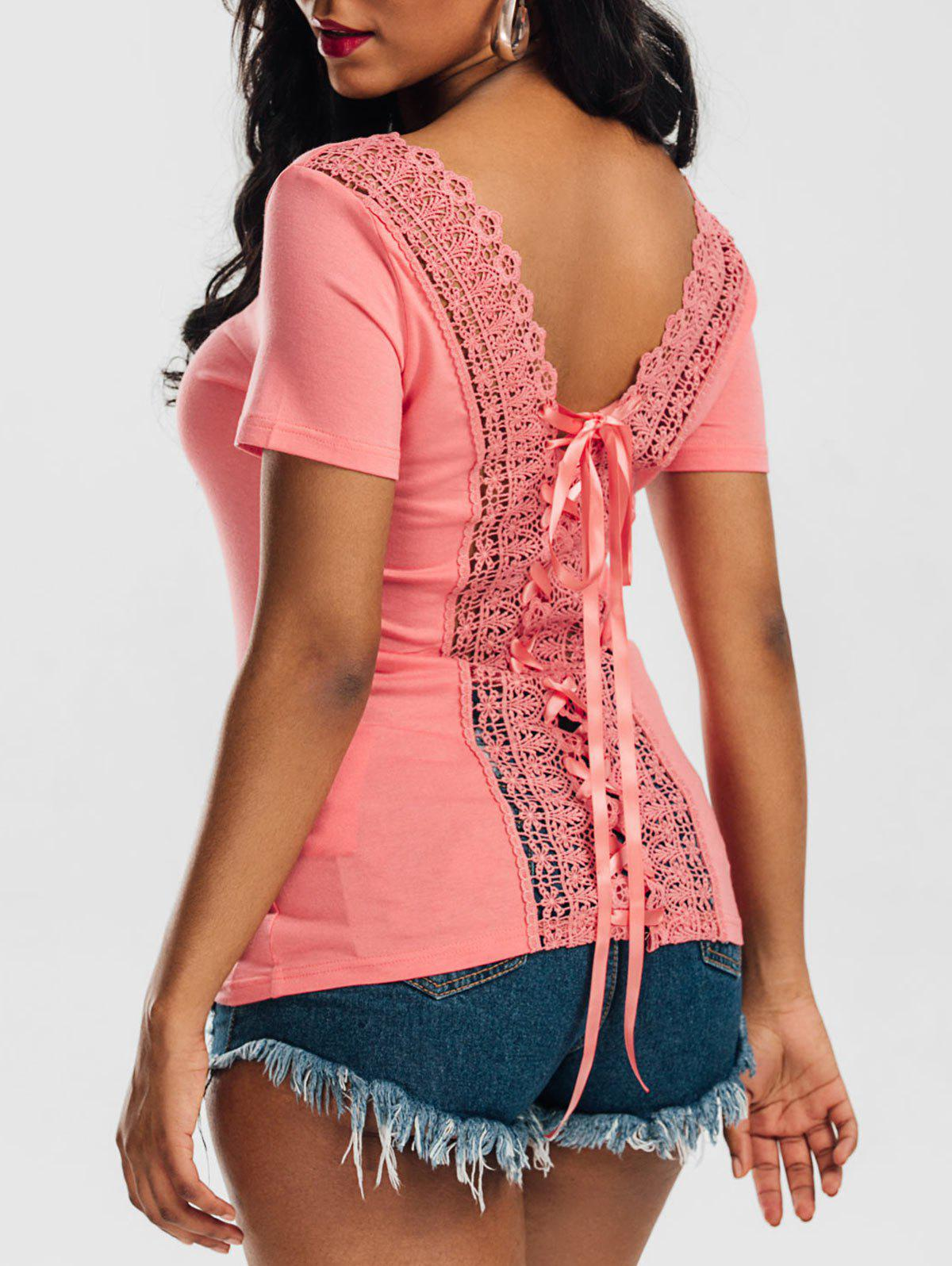 Hot Laced Lace-up Top