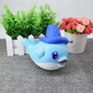 Cartoon Squishy Toy Scented Simulation Magic Hat Dolphin -