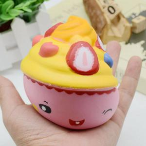 Simulation Toy Ice Cream Cup Slow Rising Squishy Food - PINK