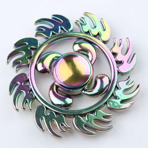 Fire Wheel Colorful EDC Fidget Metal Spinner Anti-stress Toy - COLORMIX