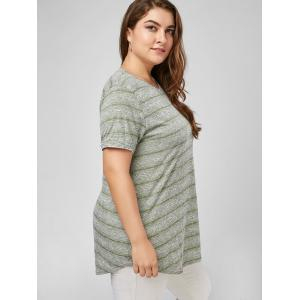 T-shirt Simple Rayé Grande Taille -