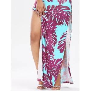 High Split Backless Printed Club Dress - TUTTI FRUTTI XL