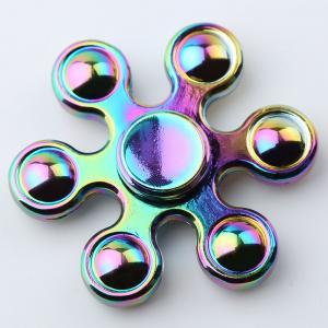 Six-bar Colorful EDC Fidget Metal Spinner Stress Relief Toy - COLORMIX