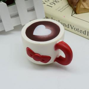 Slow Rising Squishy Toy Heart Bowknot Simulation Mug - RED