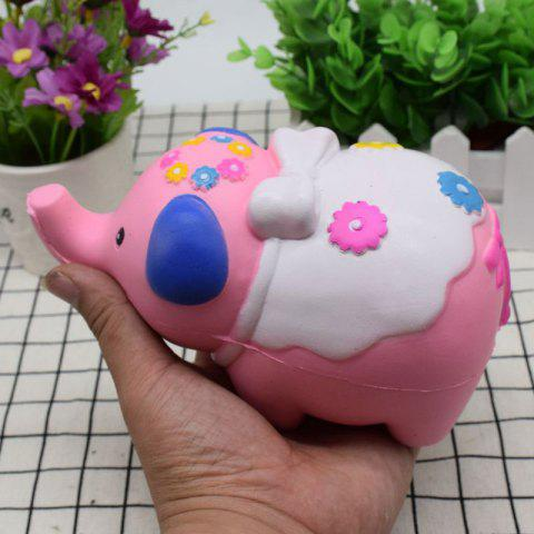 Buy Simulation Elephant Animal Slow Rising Squishy Toy - PINK  Mobile