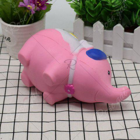 Trendy Simulation Elephant Animal Slow Rising Squishy Toy - PINK  Mobile