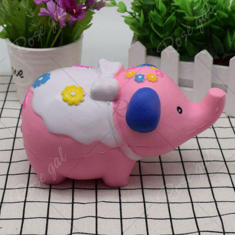 Unique Simulation Elephant Animal Slow Rising Squishy Toy - PINK  Mobile