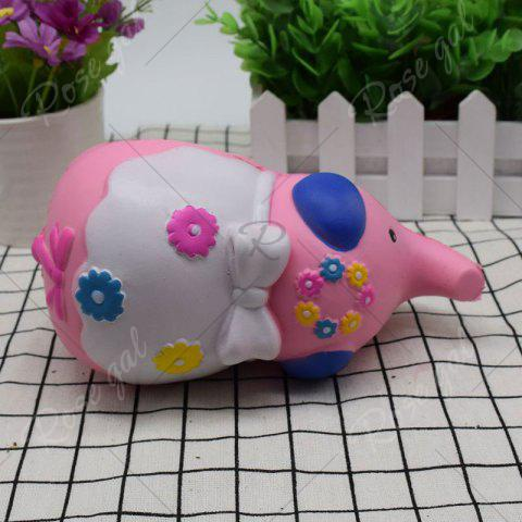 New Simulation Elephant Animal Slow Rising Squishy Toy - PINK  Mobile