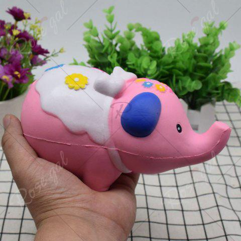 Shop Simulation Elephant Animal Slow Rising Squishy Toy - PINK  Mobile