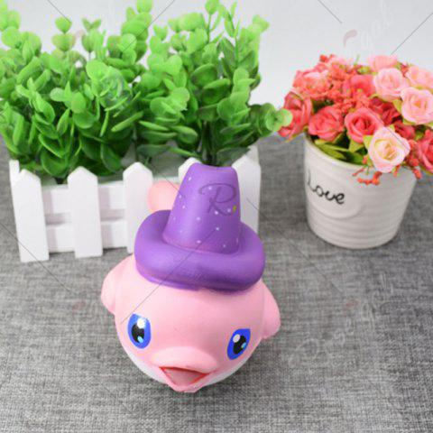 Shop Cartoon Squishy Toy Scented Simulation Magic Hat Dolphin - PINK  Mobile
