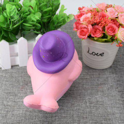Fashion Cartoon Squishy Toy Scented Simulation Magic Hat Dolphin - PINK  Mobile