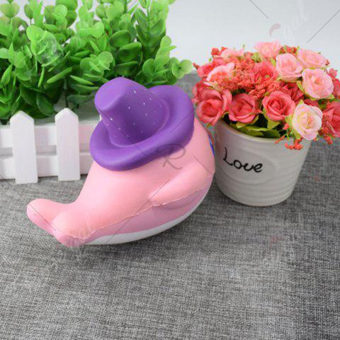 Cheap Cartoon Squishy Toy Scented Simulation Magic Hat Dolphin - PINK  Mobile