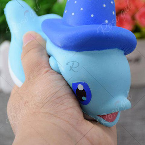 Cheap Cartoon Squishy Toy Scented Simulation Magic Hat Dolphin - BLUE  Mobile