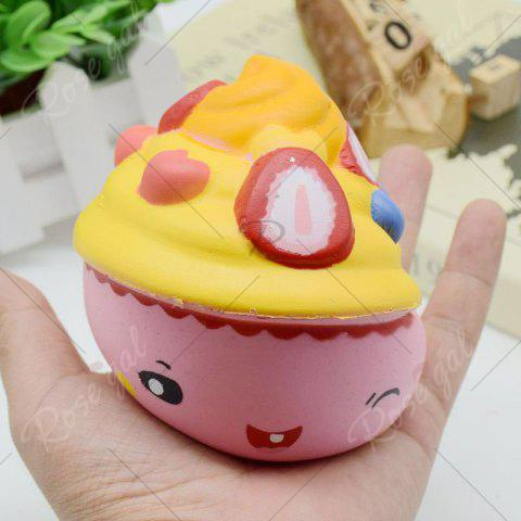 Trendy Simulation Toy Ice Cream Cup Slow Rising Squishy Food - PINK  Mobile