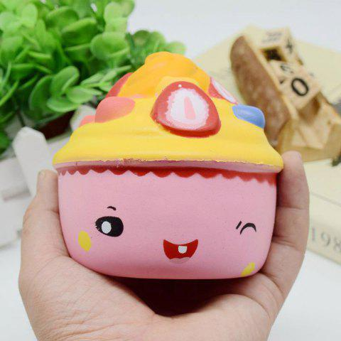 Unique Simulation Toy Ice Cream Cup Slow Rising Squishy Food PINK