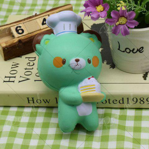Fancy Simulation Kitchener Bear Slow Rising Squishy Toy - GREEN  Mobile