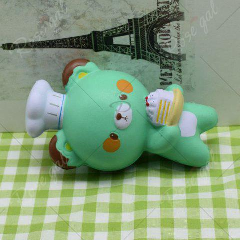 Trendy Simulation Kitchener Bear Slow Rising Squishy Toy - GREEN  Mobile