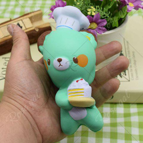 Unique Simulation Kitchener Bear Slow Rising Squishy Toy - GREEN  Mobile