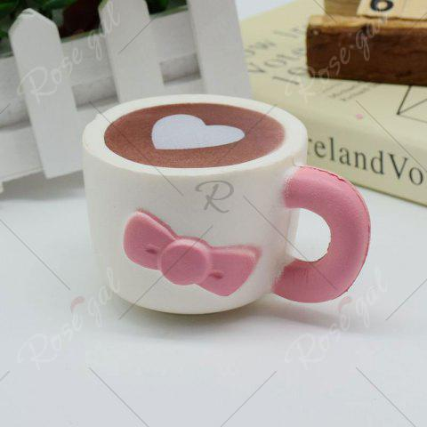 Affordable Slow Rising Squishy Toy Heart Bowknot Simulation Mug - PINK  Mobile