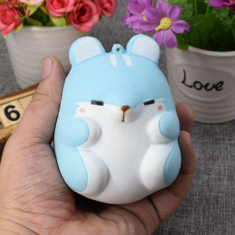 Shop Simulation Hamster Slow Rising Squishy Toy - BLUE  Mobile