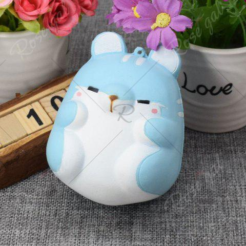 Unique Simulation Hamster Slow Rising Squishy Toy - BLUE  Mobile