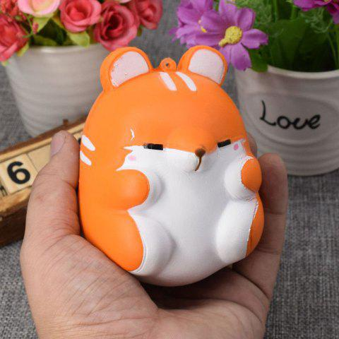 2018 Simulation Hamster Slow Rising Squishy Toy In Orange