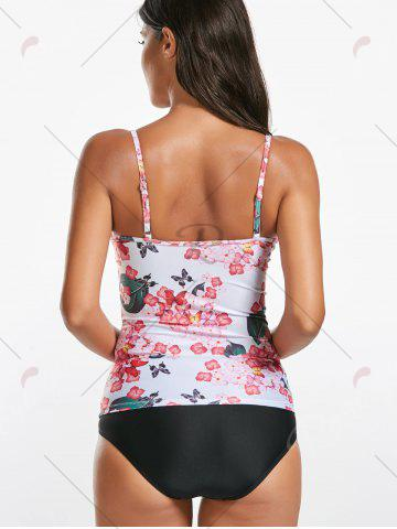 Trendy Cami Floral Underwire Push Up Tankini Bathing Suit - M FLORAL Mobile